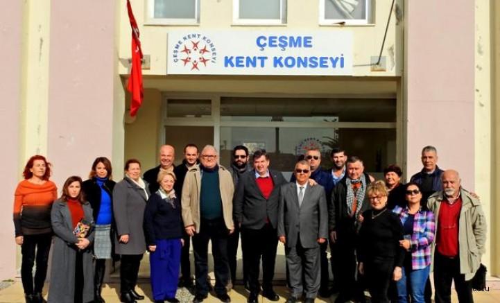 CHP Çeşme Belediye Başkan Adayı Ekrem Oran STK Ziyaretlerine Başladı