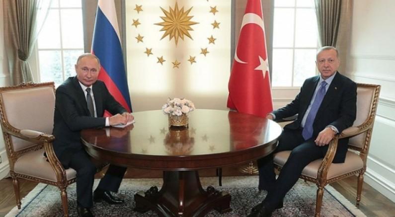 Cumhurbaşkanı Erdoğan ve Putin'den Filistin diplomasisi