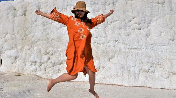 Denizli'de Özellikle Rus Turistlerin Yoğun İlgi Gösterdiği Unesco Kültür Mirasına Gelen gitmek istemiyor