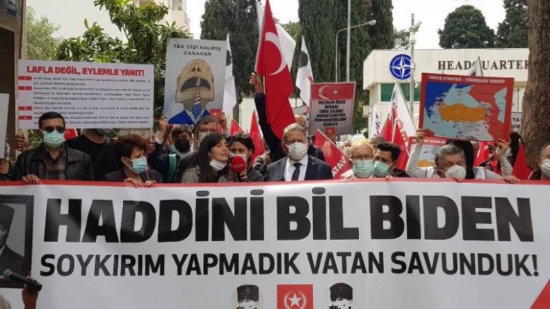 İzmir NATO Karargahı Önünden Meydan Okudular! Ermeni Yalanı Emperyalist Oyun