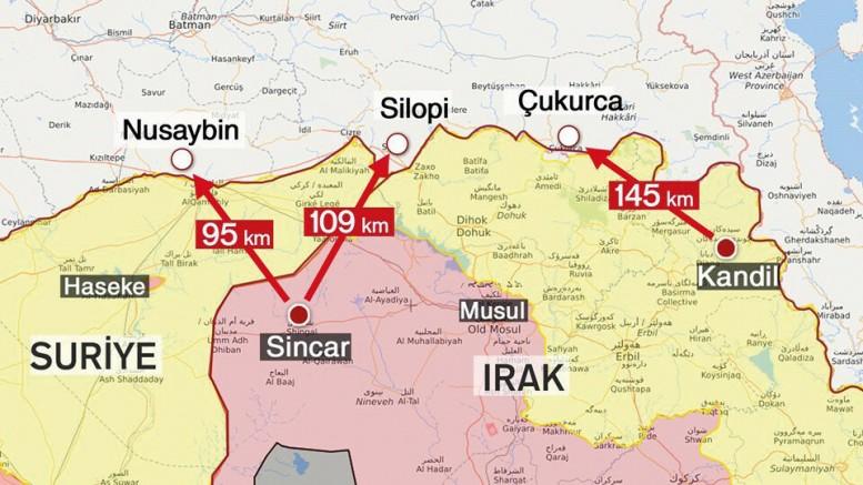 PKK, Suriye ve Irak'ı resmen bölüyor! Sincar'da ABD-İran-PKK İşbirliği