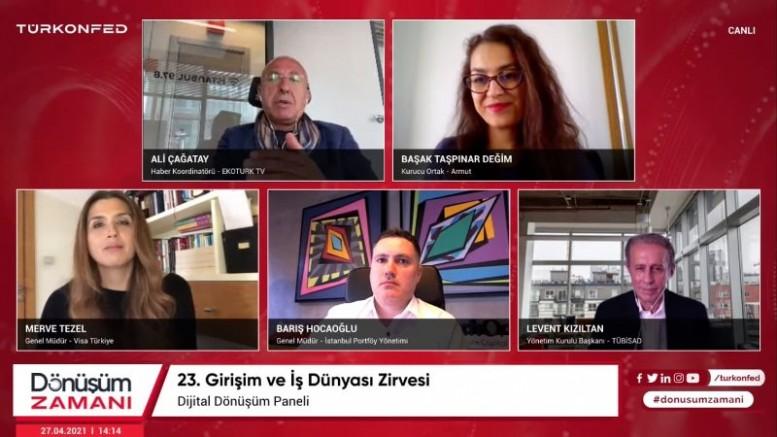 """TÜRKONFED 23. Girişim Ve İş Dünyası Zirvesinde """"İkiz Dönüşüm"""" Masaya Yatırıldı"""